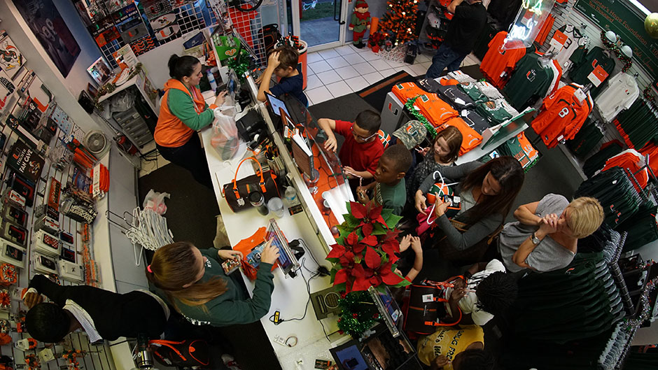 Santa's Sporty Elves Help Kids Give an allCanes Christmas