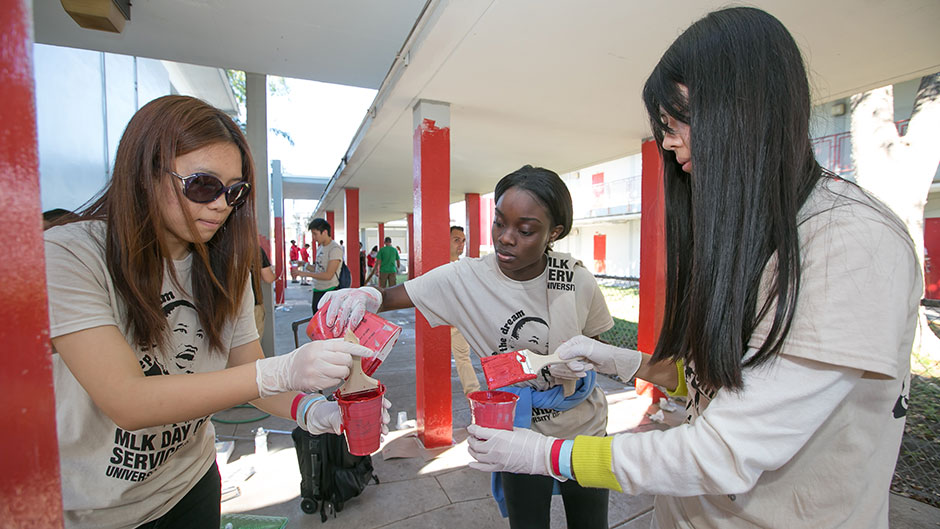 Students honor the legacy of MLK by helping others.