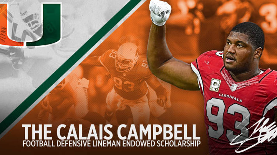 Pro Bowler Calais Campbell Endows Athletics Scholarship