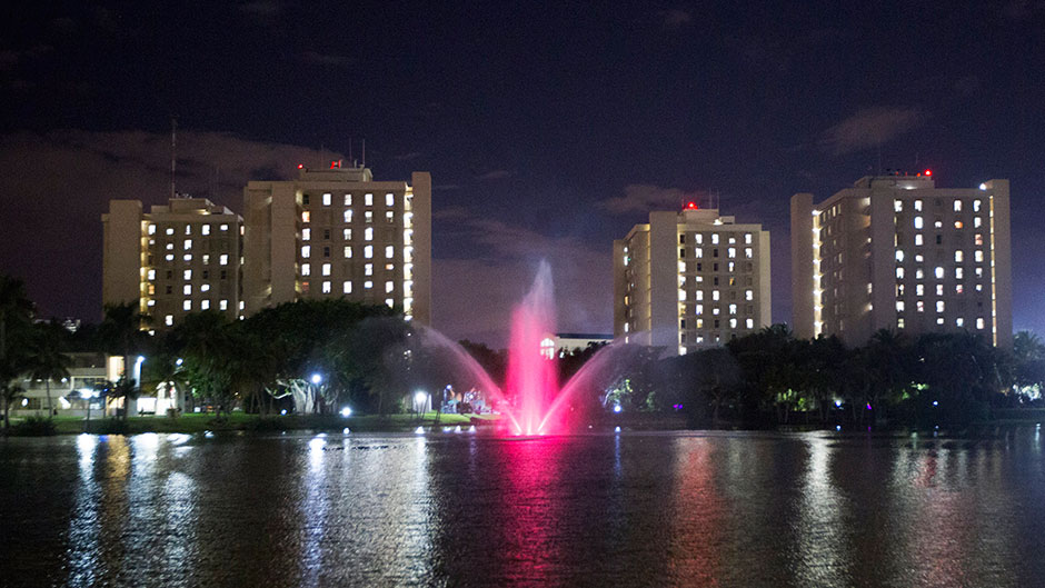 Iconic Cobb Fountain Goes Pink for a Cause