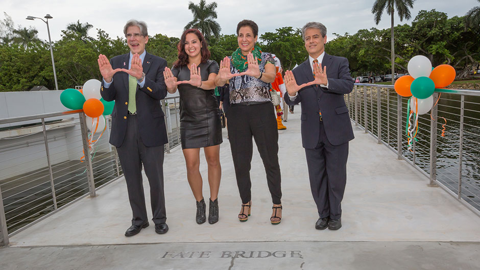 UM Opens the Fate Bridge Across Lake Osceola