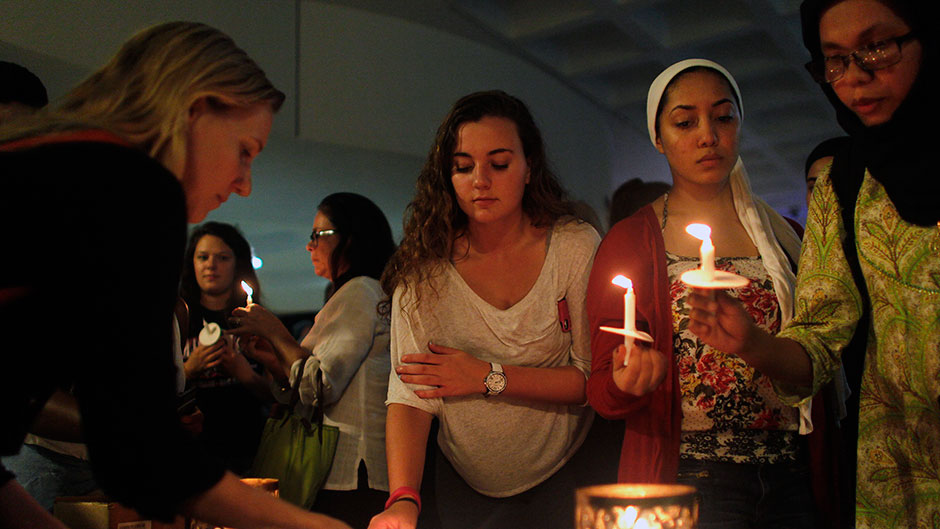 Vigil Held to Remember Terrorist Victims