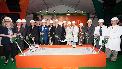 Ceremonial groundbreaking for the Miller School of Medicine Center for Medical Education