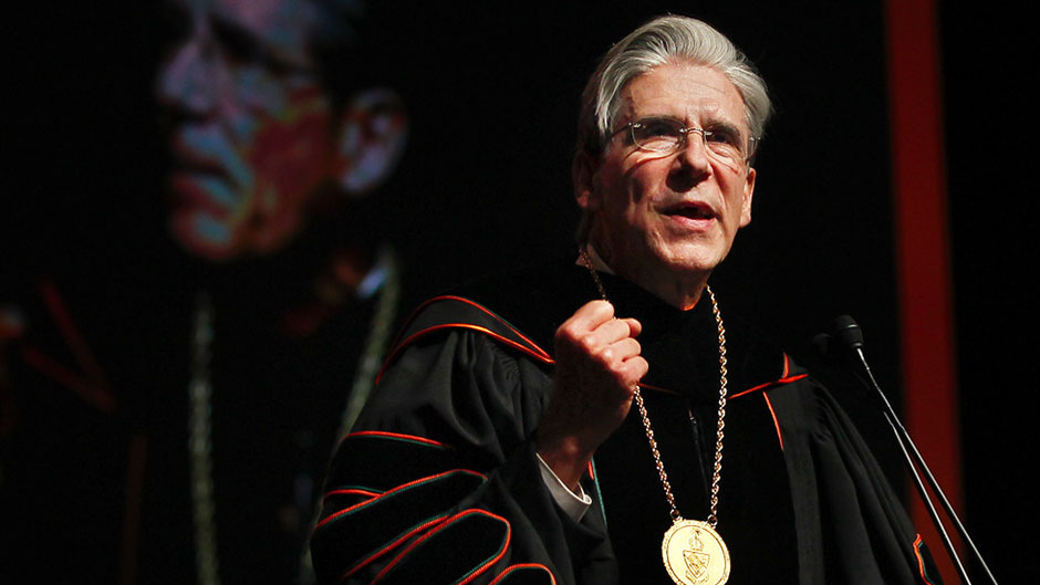 President Julio Frenk gives Inauguration Ceremony remarks