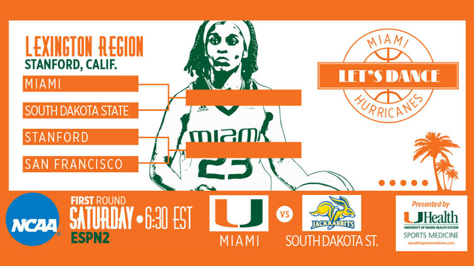 @CanesWBB Receives No. 5 Seed in NCAA Tournament