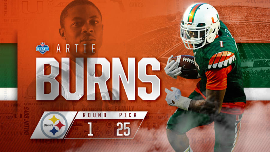Artie Burns Drafted by Steelers in First Round of NFL Draft