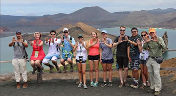 University of Miami students on study abroad program in the Galapagos.