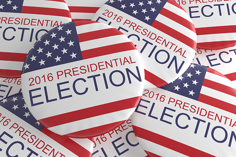2016 Presidential Election Stock Image