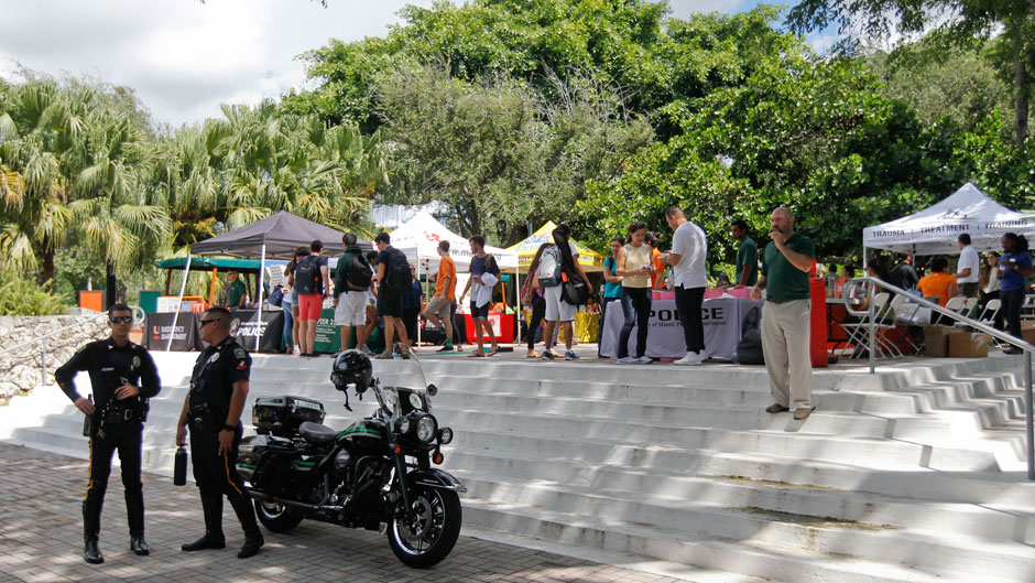UMPD and FDOT hosted their annual Safety Fair & Put it Down Campaign Kick-Off