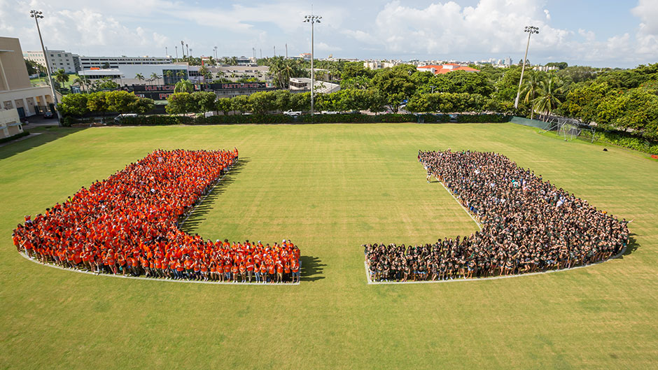 Big U made from incoming students
