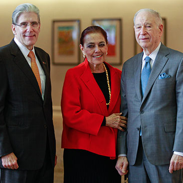 UM President Julio Frenk with Patricia and Phillip Frost