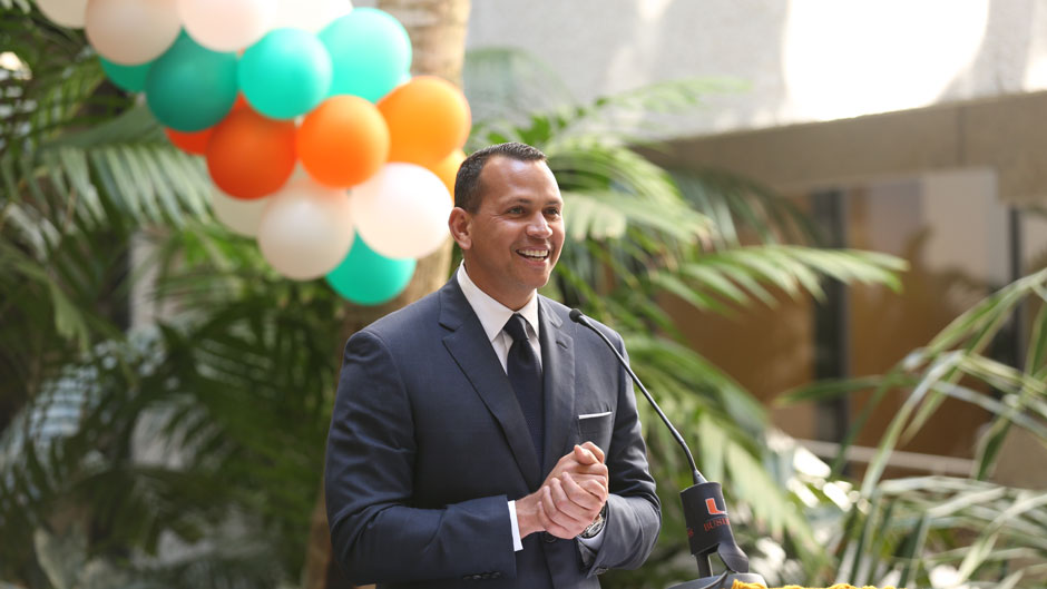 Alex Rodriguez, University of Miami, School of Business Administration, Executive MBA for Artists and Athletes