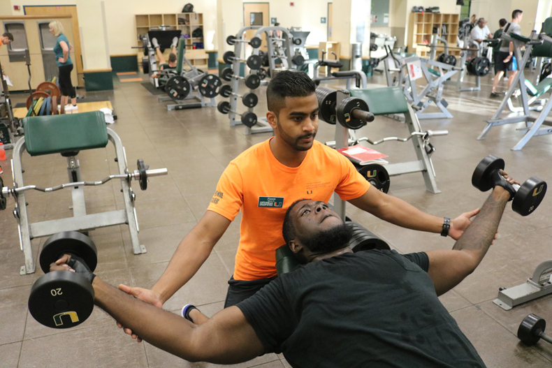 Herbert Wellness Center, personal training, University of Miami