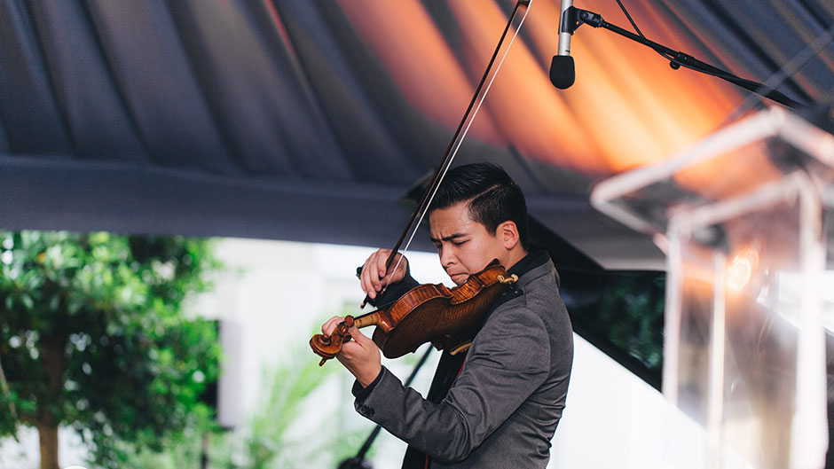 Frost School of Music violinist Miclen LaiPang