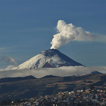 Cotopaxi volcano, Andes Mountain region of Ecuador