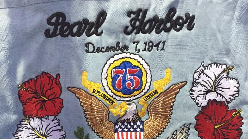 Emi Kopke designed a special commemorative shirt that veteran John Seelie