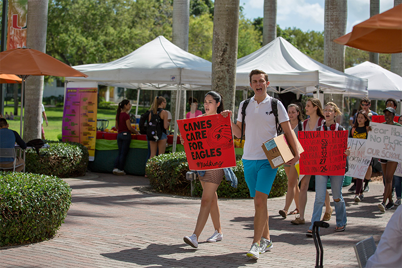 UM students rally against gun violence