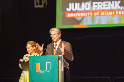 President Julio Frenk and Felicia Knaul at 'Canes Take Flight