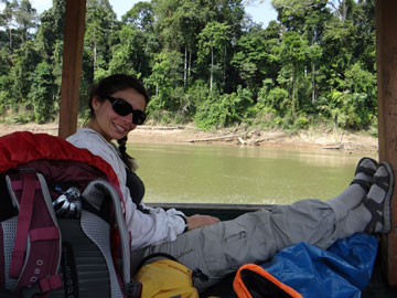 Belen Fadrique in the Amazon