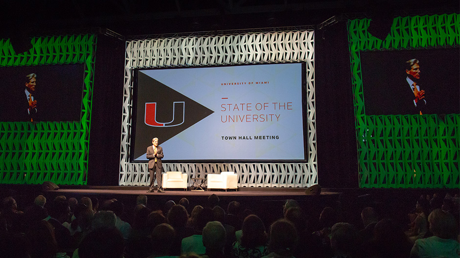 In his inaugural State of the U address, President Julio Frenk outlined top strategies of the Roadmap to Our New Century.