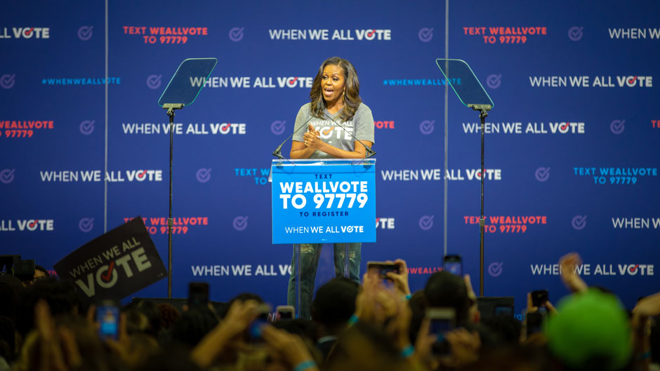 Michelle Obama at When We All Vote rally