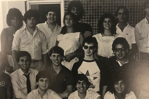 Brian Todd and the WVUM Team in 1983