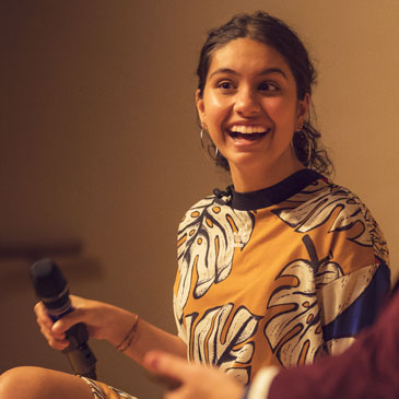Alessia Cara during a Q&A at the Frost School of Music