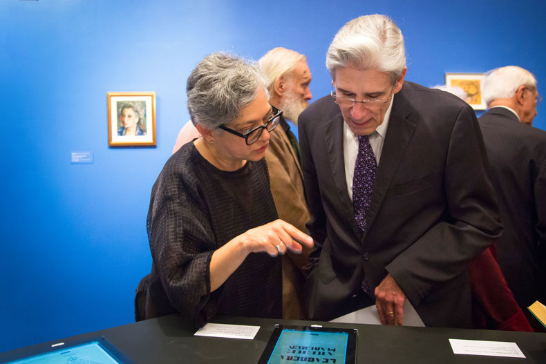 UM President Julio Frenk at the Trembling Thinking exhibition