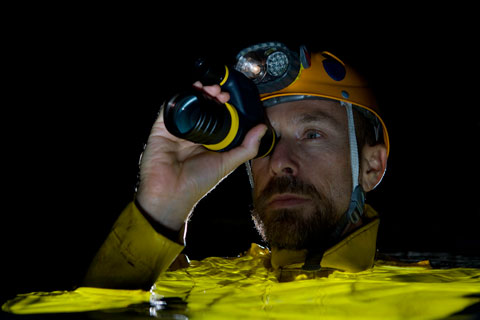 Professor Kenny Broad on a cavediving expedition