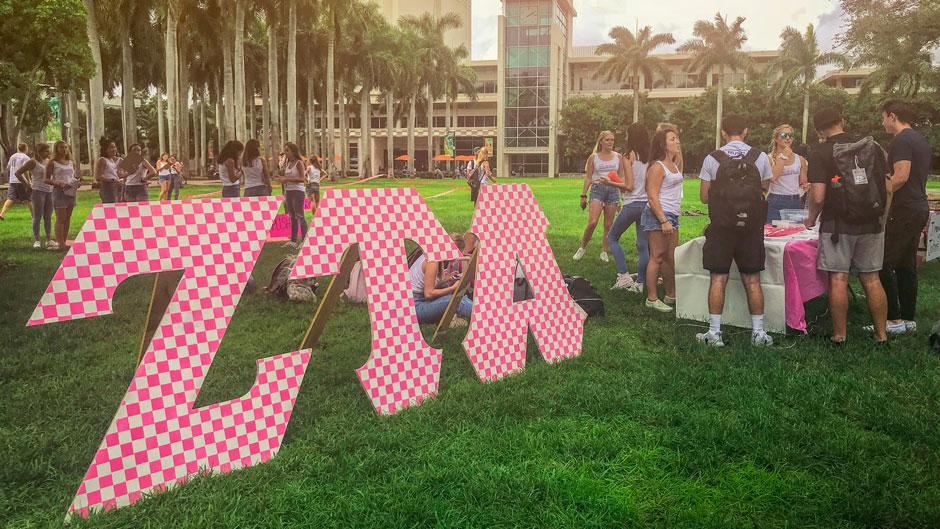 Zeta Tau Alpha fraternity on the Foote University Green