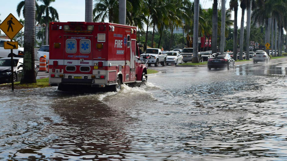 Climate change flooding in Florida