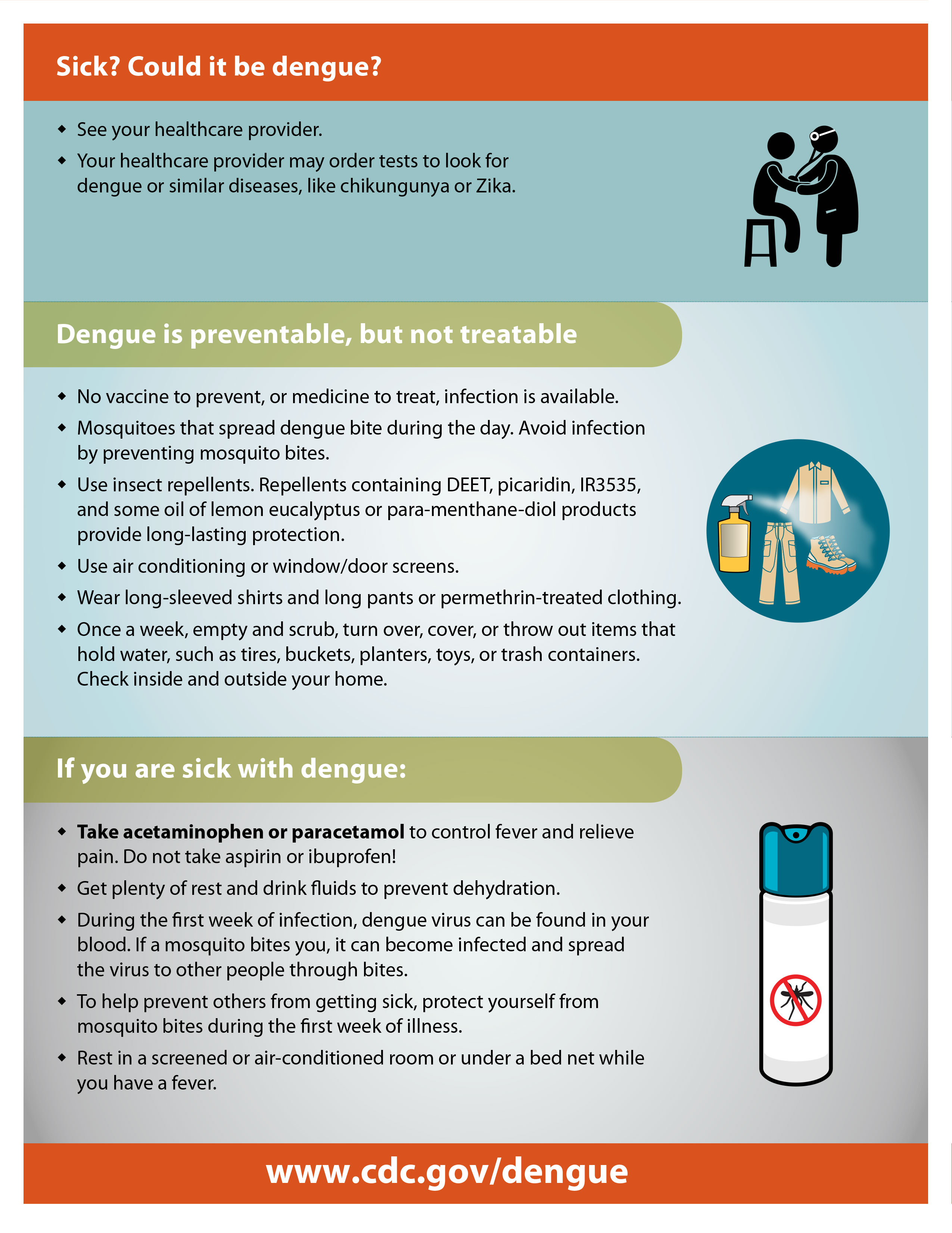 CDC fact sheet on dengue 2