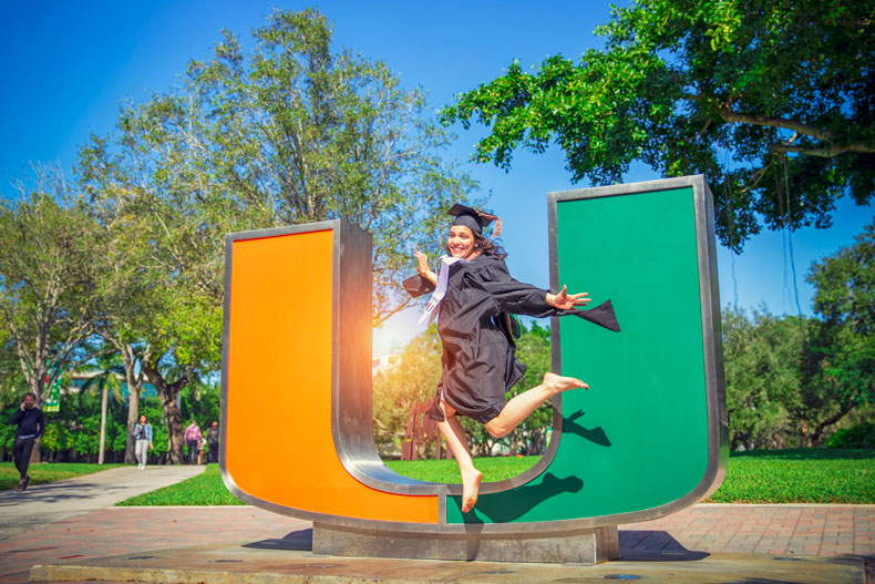Gabby Serrano celebrates her graduation from Miami Business School