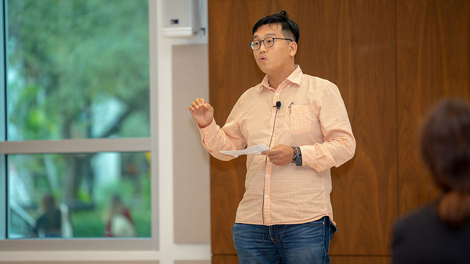 Aiden Lee, a Ph.D. candidate in marketing at Miami Business School