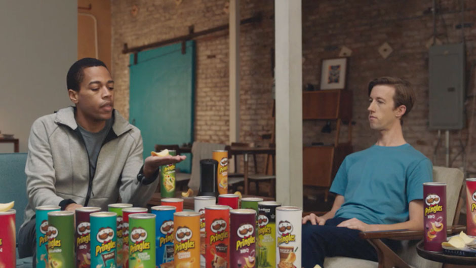 The Pringles commercial touts the many varied options for flavor stacking.