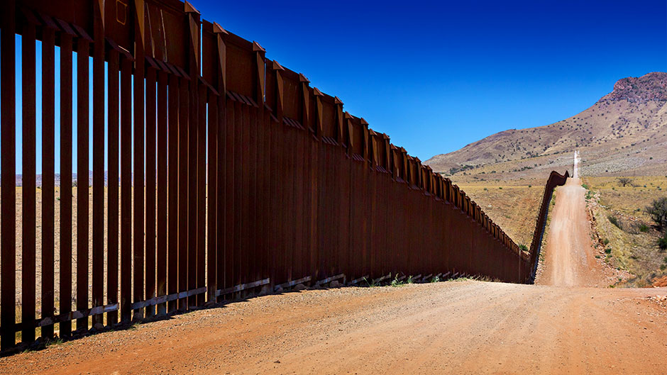 Fencing along the southern U.S. border