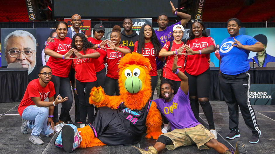 Black Greeks at Miami Heat Black History Month Challenge