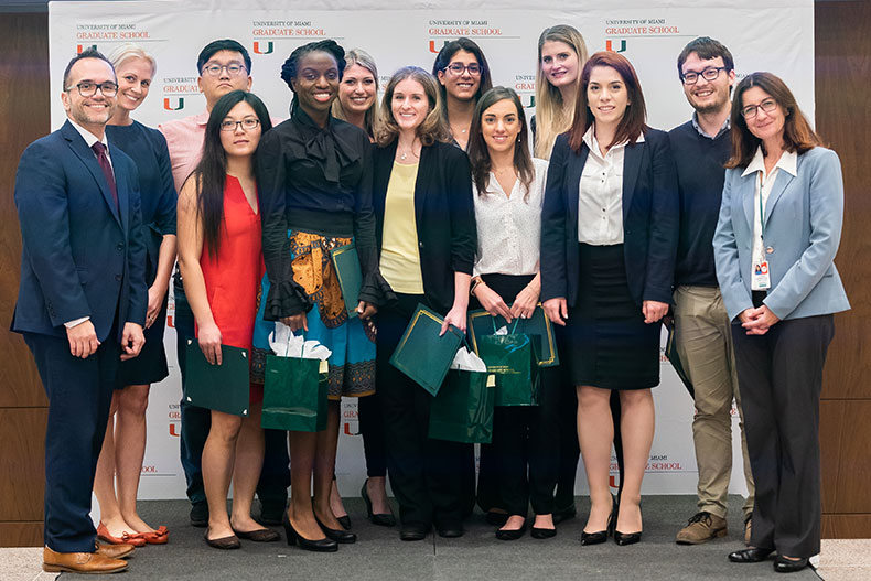 Three minute thesis competitors
