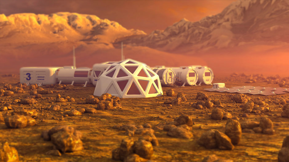 Colony on Mars (rendering)