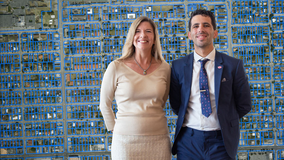 UM's Robin Bachin and Jorge Damian de la Paz created LAND with the Center for Computational Science.