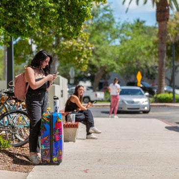Caroline Whyte leaves campus on spring break