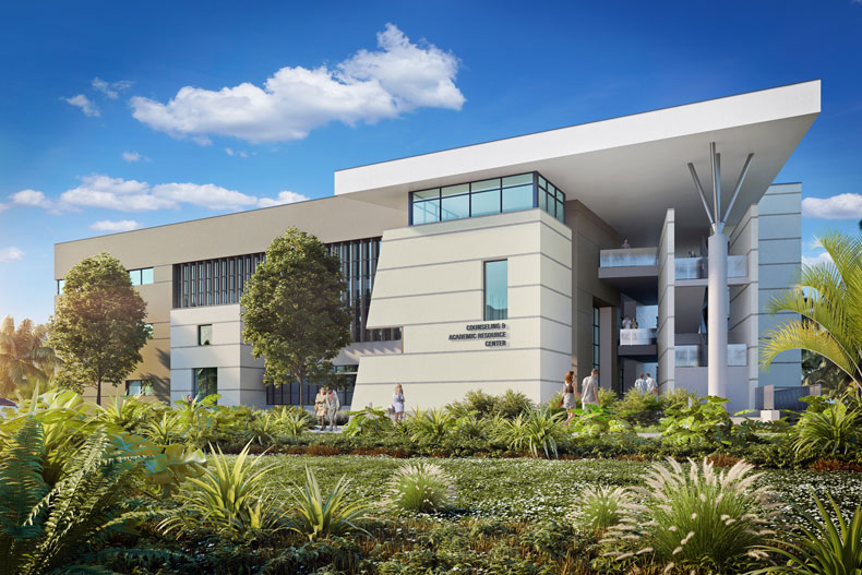 Counseling and Academic Resource Center rendering