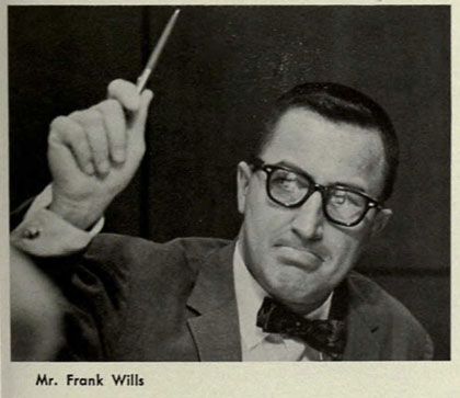 Frank Wills UM yearbook photo