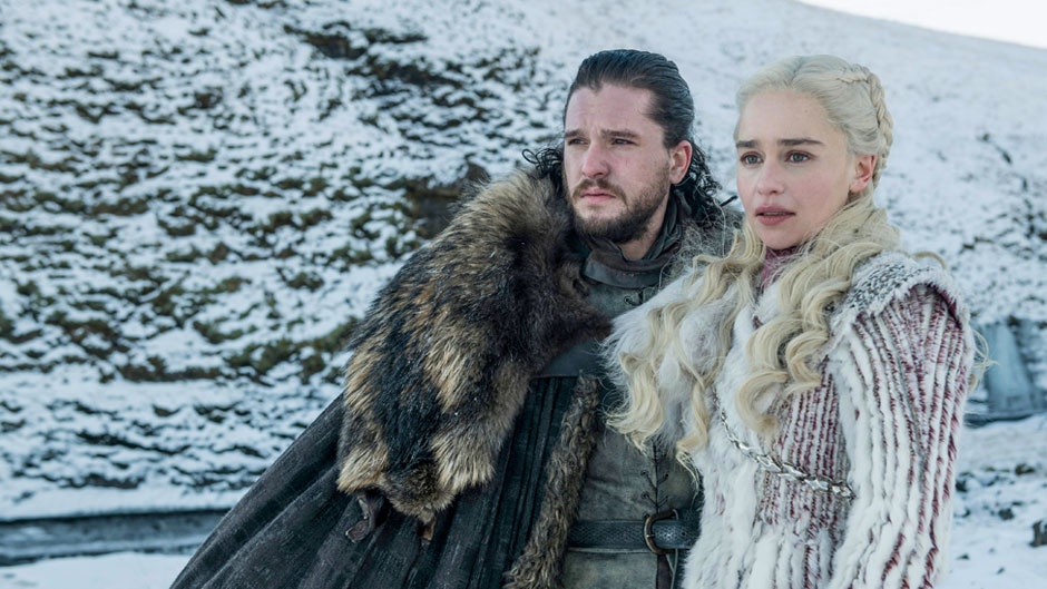 Season 8: Kit Harington, Emilia Clarke. Photo: Helen Sloane/HBO