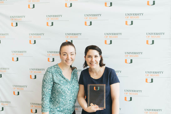 2019 Student Employee of the Year with her mentor Elizabeth Simpson, the 2019 Student Supervisor of the Year.