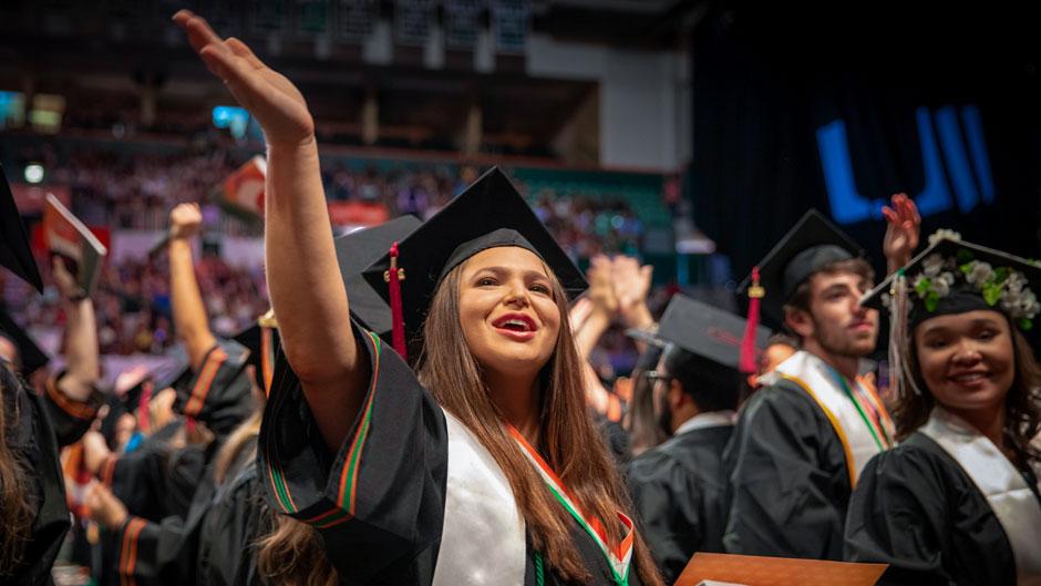 Undergraduate ceremony celebration