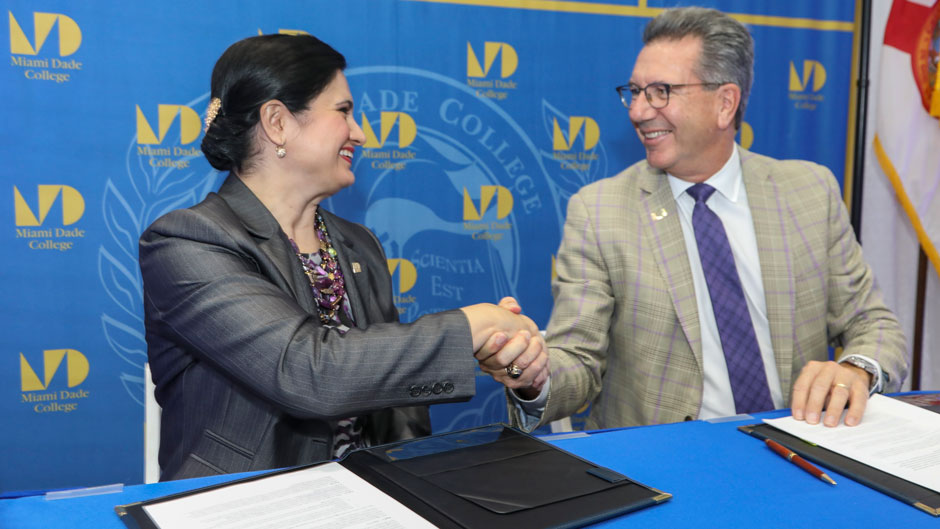 University of Miami and Miami Dade College team up for student success