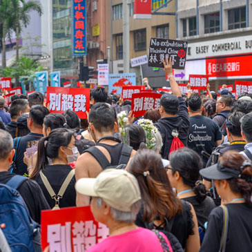 Hong Kong June 16 protest against extradition bill with two million of people on the street.