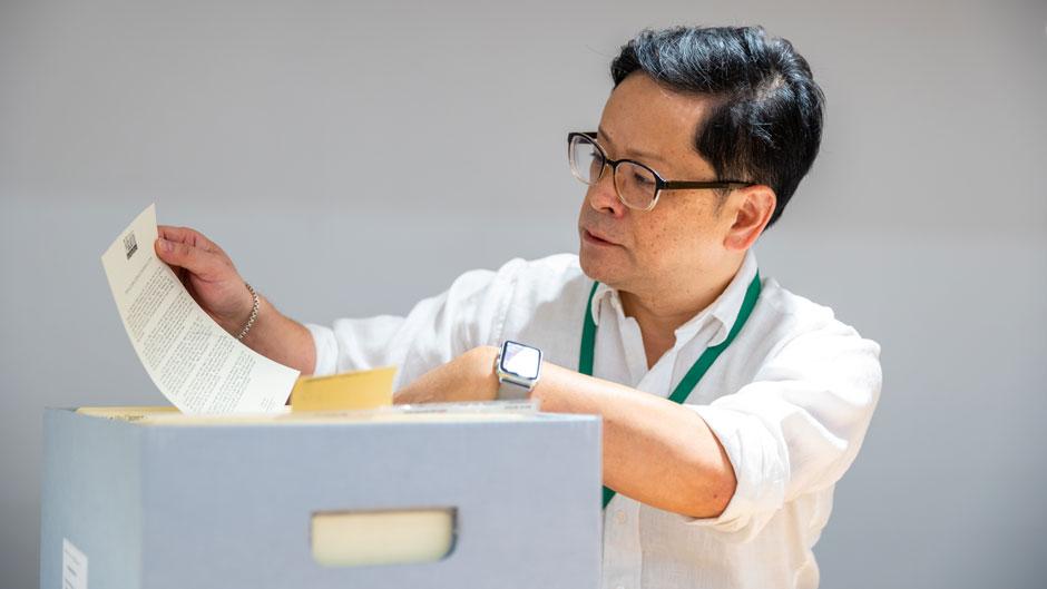 University archivist Koichi Tasa