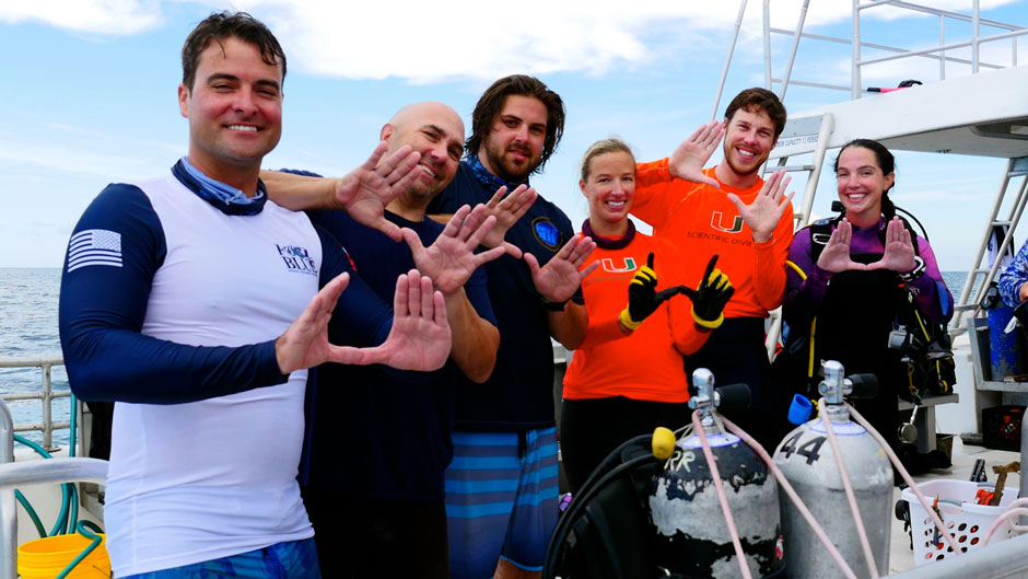 Scientists from the Rescue a Reef program, part of the University of Miami Rosenstiel School of Marine and Atmospheric Science